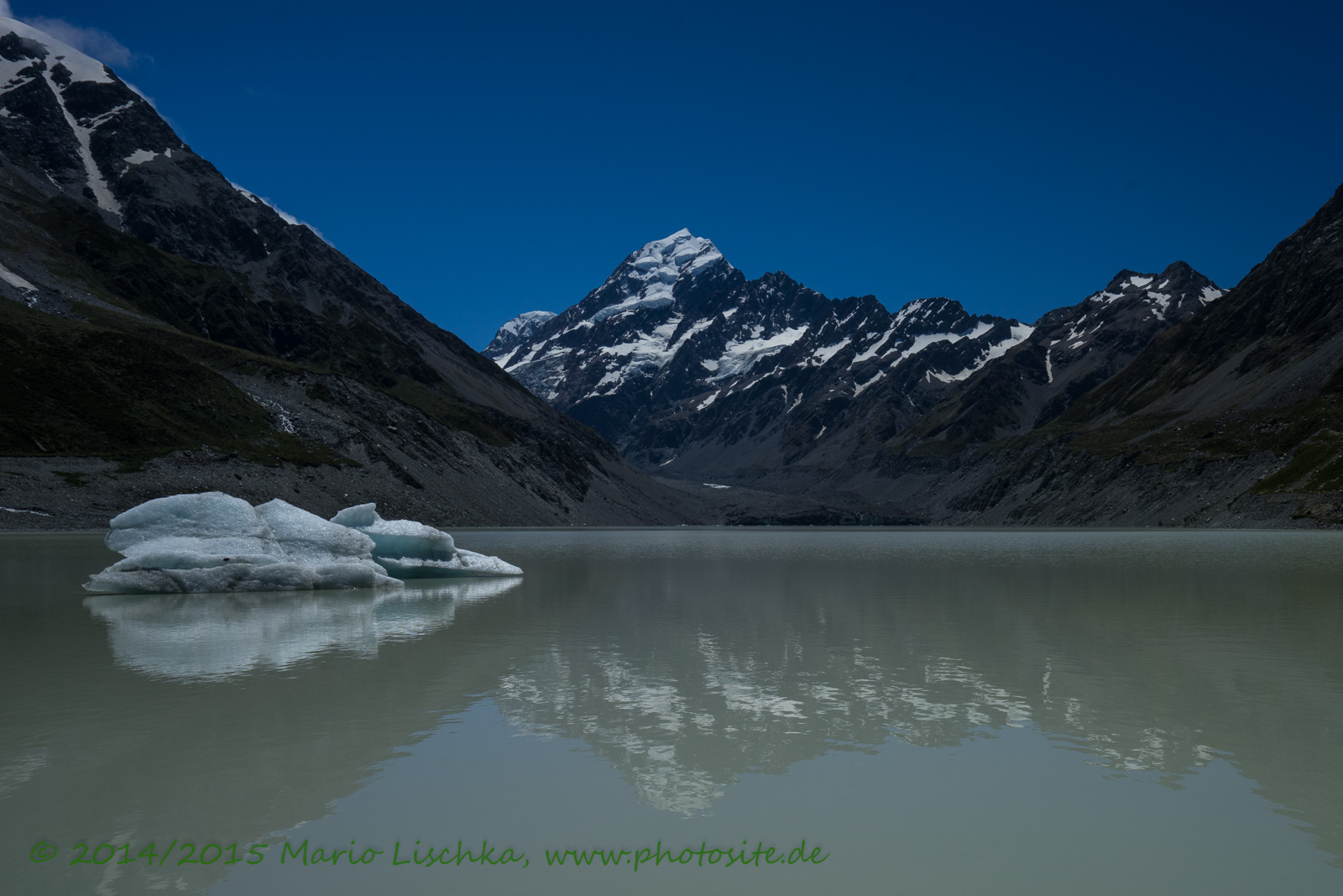 Mount Cook im Hooker Lake